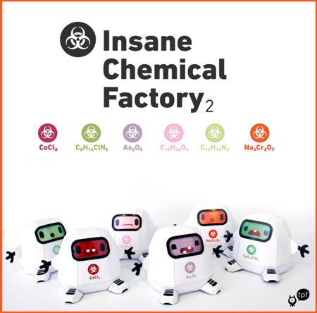 Insance Chemical Factory Paper Toy Series 2