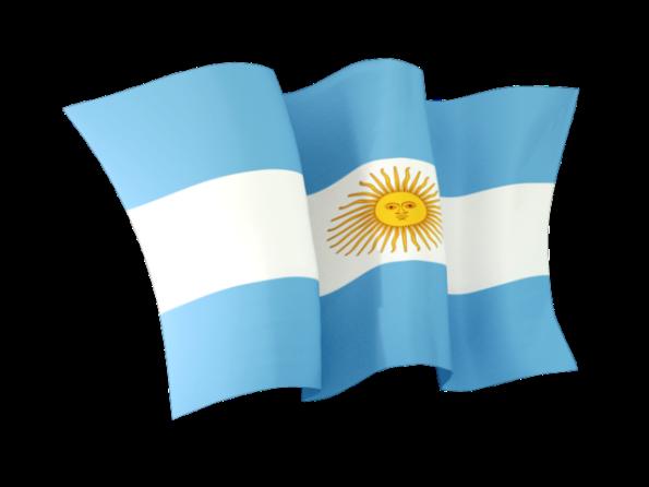 Imágenes de la bandera argentina ondeando
