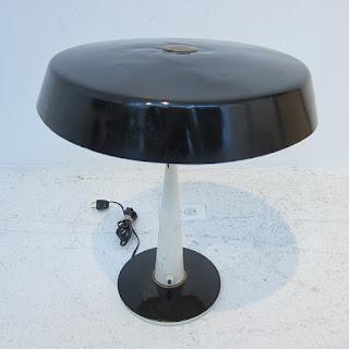 Mid-Century Modern Metal Table Lamp #1