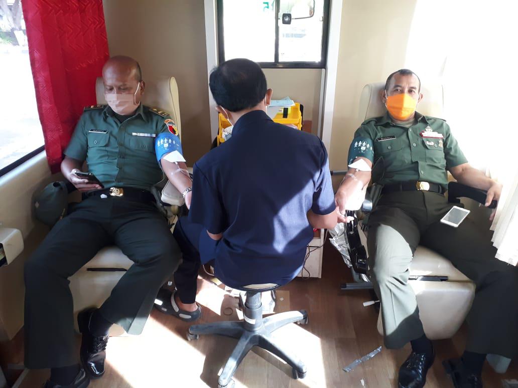 Antisipasi Krisis Stok Darah, Kodim 0824 Jember Gelar Donor Darah