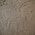 Tour Saint-Rieul : dalle funéraire représetnant un couple (Pierre, laboureur à Louvres-en-Parisis, et Marie, sa femme, datée 1573)