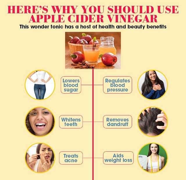فوائد خل التفاح للصحة والجمال