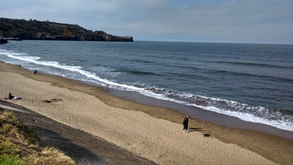 Sandsend a long beach