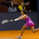 STUTTGART, GERMANY - APRIL 16 : Ankita Raina in action at the 2016 Porsche Tennis Grand Prix