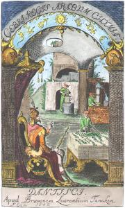 Frontispiece From Geber Summa Perfectionis Magisteri Danzig 1682, Alchemical And Hermetic Emblems 1