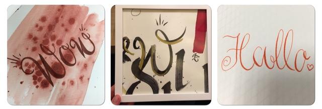 Ein Kurs in Kalligrafie, Kalligraphie bei Künstlerin Andrea Wunderlich