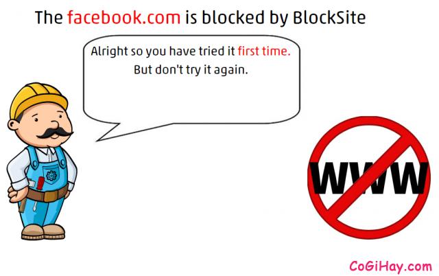 Chặn facebook, cấm website thành công