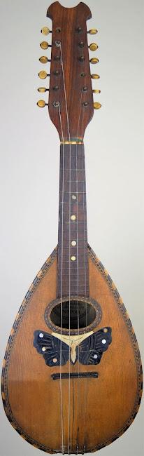 Stridente Bowlback Mandriola 12 string Mandolin circa 1900
