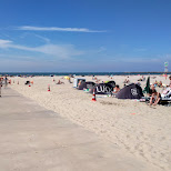 the IJmuiden beach, one of the best in Holland in Velsen, Noord Holland, Netherlands