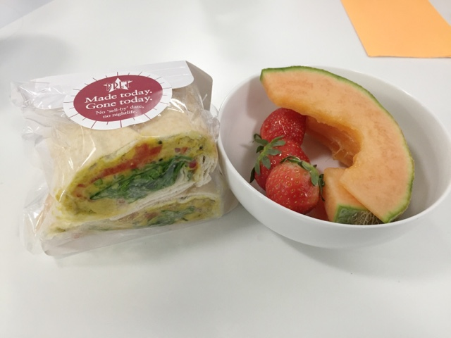 Vegan Food at Pret a Manger Vegan Sandwich - Chana Chaat Flat Bread