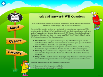WH Question Cards Pro About
