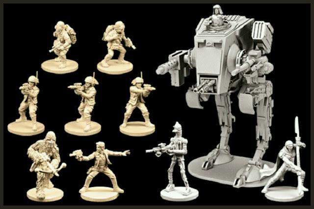 miniaturas de la wave 1 Imperial Assault y sus expansiones