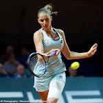 STUTTGART, GERMANY - APRIL 21 : Karolina Pliskova in action at the 2016 Porsche Tennis Grand Prix