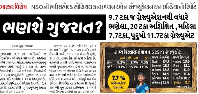 Education Servay Gujarat Amazing Facts