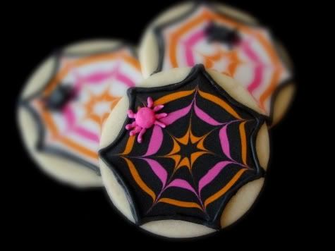 spiderweb cookies with tutorial