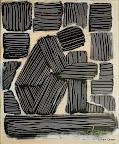 009 - Personnage Assis - 1991 42 x 50 - Acrylique sur résine (fixé)
