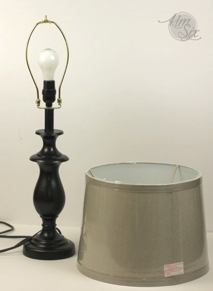 Plain lamp shade for black lamp