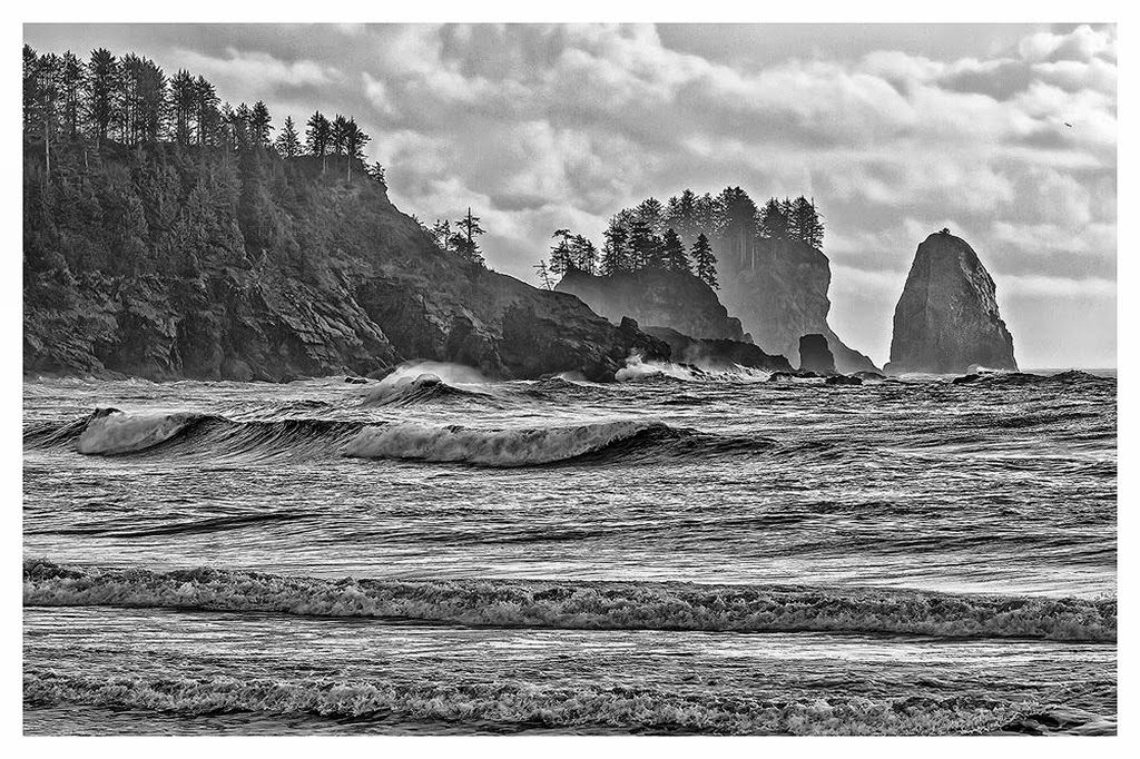 """""""First Beach in the Rain"""" by Tim O'Neill - 2nd Place A General"""
