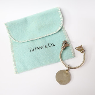 Tiffany & Co. Sterling Silver Bull & Bear Key Ring