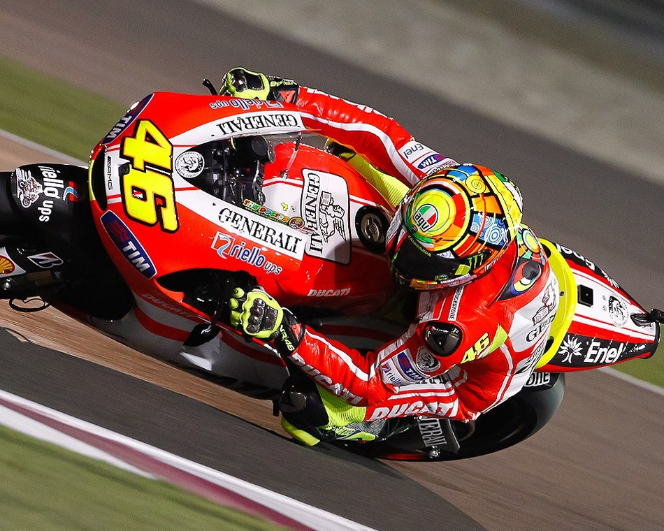 valentino rossi ducati qatar. at Qatar on Thursday night