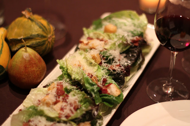 Baby Gem Romaine Salad with Bacon, Local Cheddar & Croutons. SweetFire Kitchen restaurant at La Cantera Hill Country Resort