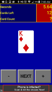Card Counting Game screenshot