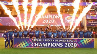 IPL Final 2020 : Mumbai Indians beat Delhi Capitals by 5 Wickets