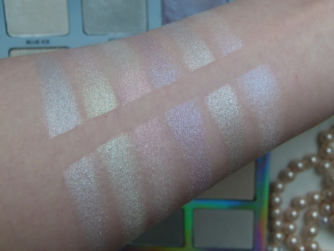 ABH Moon Child Dupe Swatches RdeL young Unicorns Highlighter Palette