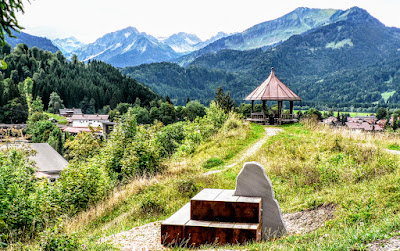 Oberstdorf Pavillon Katharinenruhe Spaziergang
