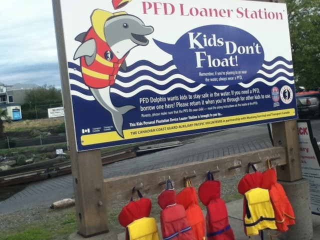 Free PDF loan area at Comox Marina