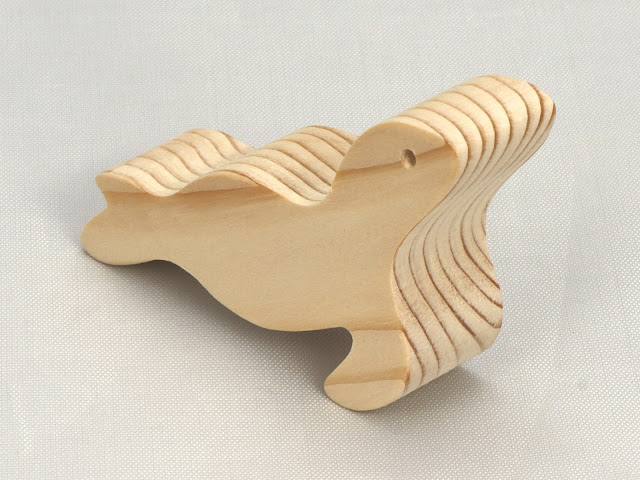 Handmade Wood Toy Seal Ocean Animal Unfinished Wood Toy