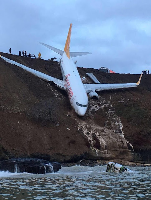 Turkish Airways Crash Lands, Skids Off Runway, Almost Plunged Into Black Sea