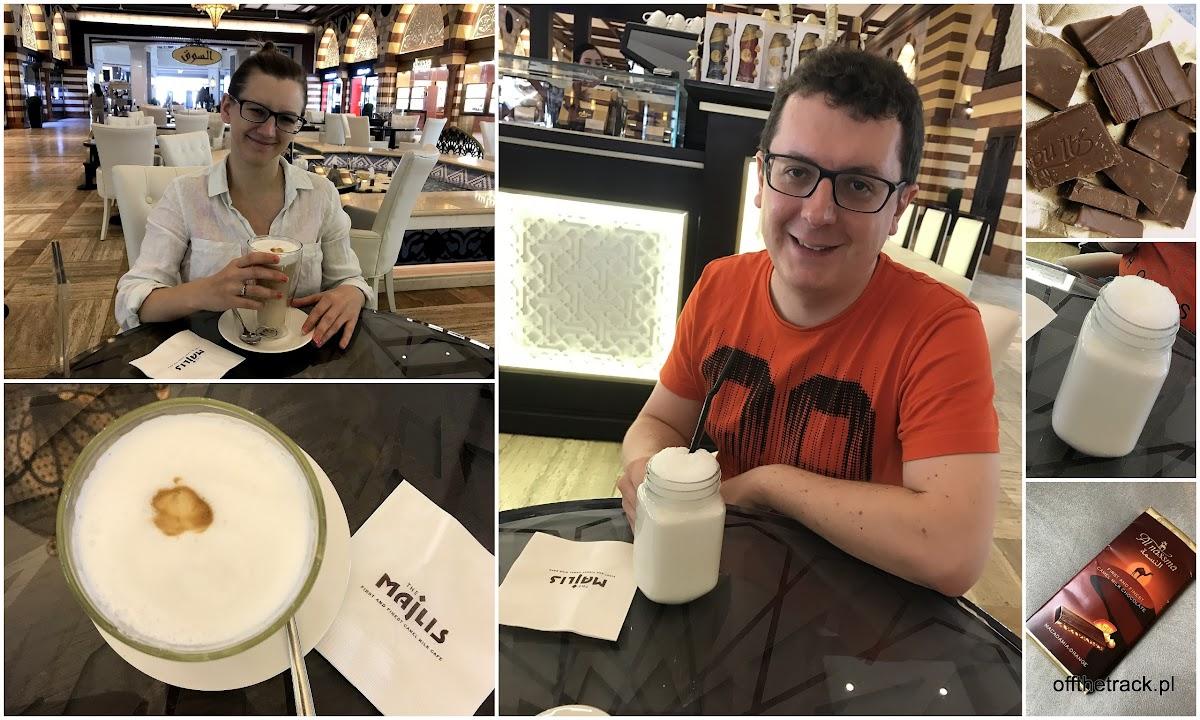 Kawa, szejk i czekolada z mleka wielbłąda, Dubaj, Zjednoczone Emiraty Arabskie