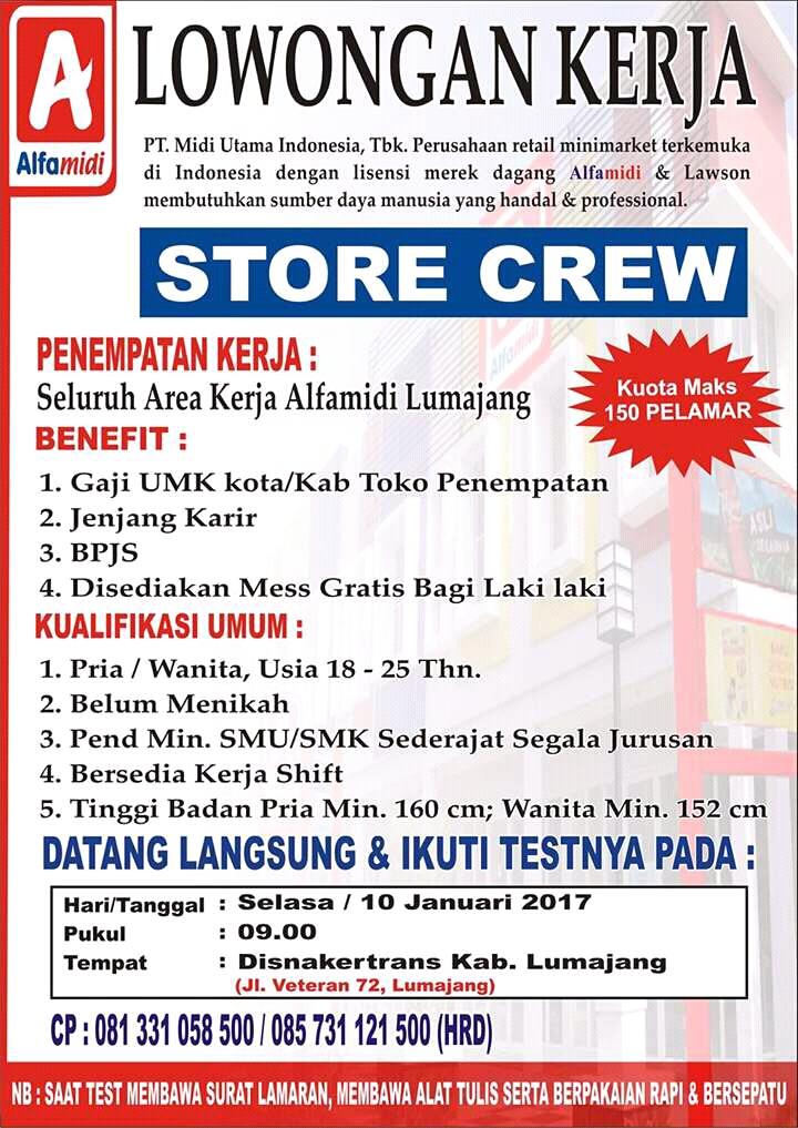 Lowongan Alfamidi Lowongan Kerja Indonesia