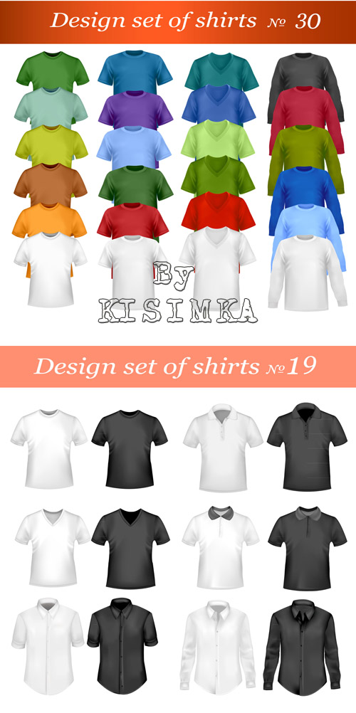 Stock: Design of T-shirts and shirts