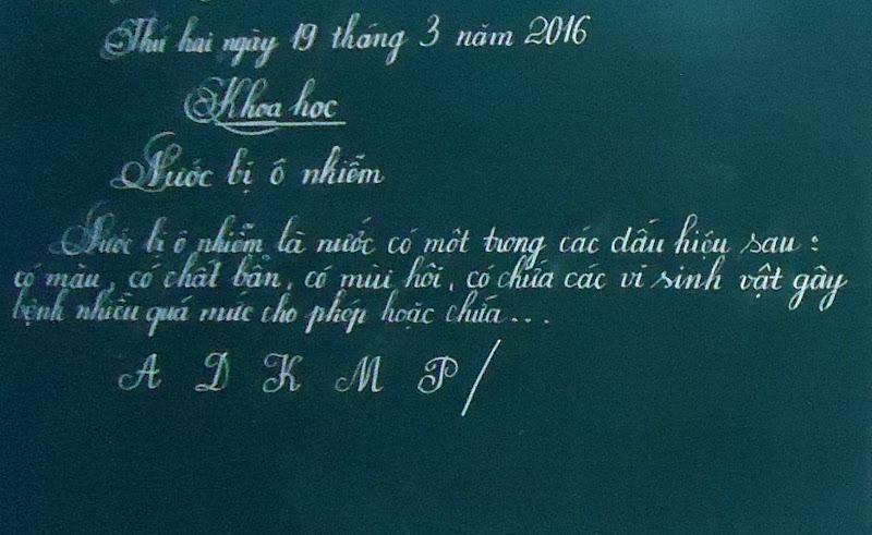 Hội thi viết chữ đẹp cấp TH năm học 2015-2016