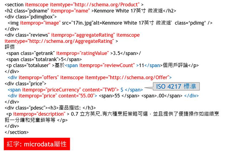 步驟一:確定資料流,完成網頁切版,並在 html 內植入 microdata 相關屬性