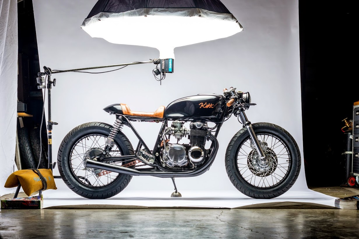 Honda Cb550 'black And Copper'