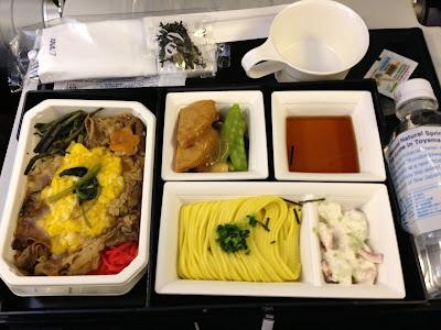 ANA機内食 牛丼