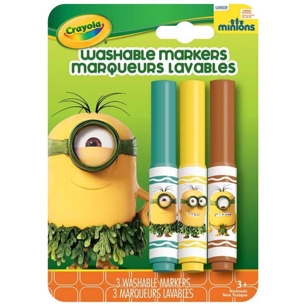 Bộ 3 bút lông tẩy rửa được màu xanh lá, vàng, nâu
