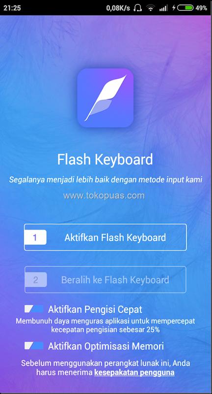 tutorial mempercantik tampilan flash keyboard