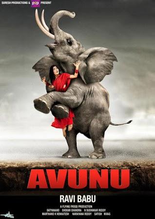 Poster Of Avunu Full Movie in Hindi HD Free download Watch Online Telugu Movie 720P