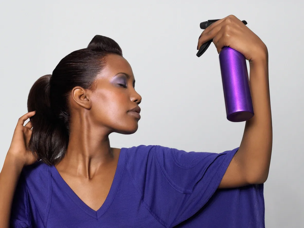 Use a hair spray to keep the blowout in place