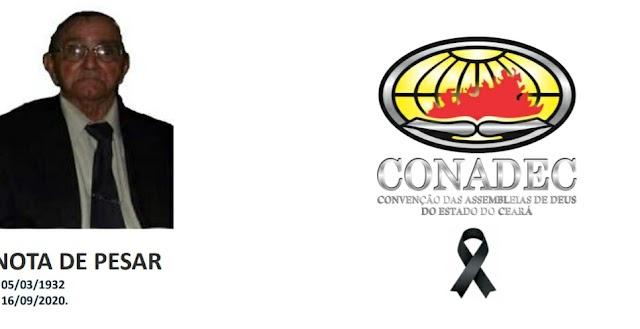 CONADEC solta nota de pesar pela morte do Ev. Julio Carneiro