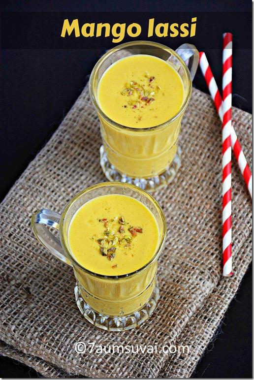 Mango Lassi / Sweet lassi with mango - with video | 7aum Suvai