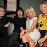 WWW.ENTSIMAGES.COM -   Aidan Cross  Lead Singer - Song writer of The Bacillus Rock Band, Saffron, Pola and  Jeanette Cossey  at   K-9 Angels Exclusive launch of BBK-9 Limited Edition Boots raising funds to help dogs all around the world at Beaufort House Chelsea October 16th 2014                                              Photo Mobis Photos/OIC 0203 174 1069