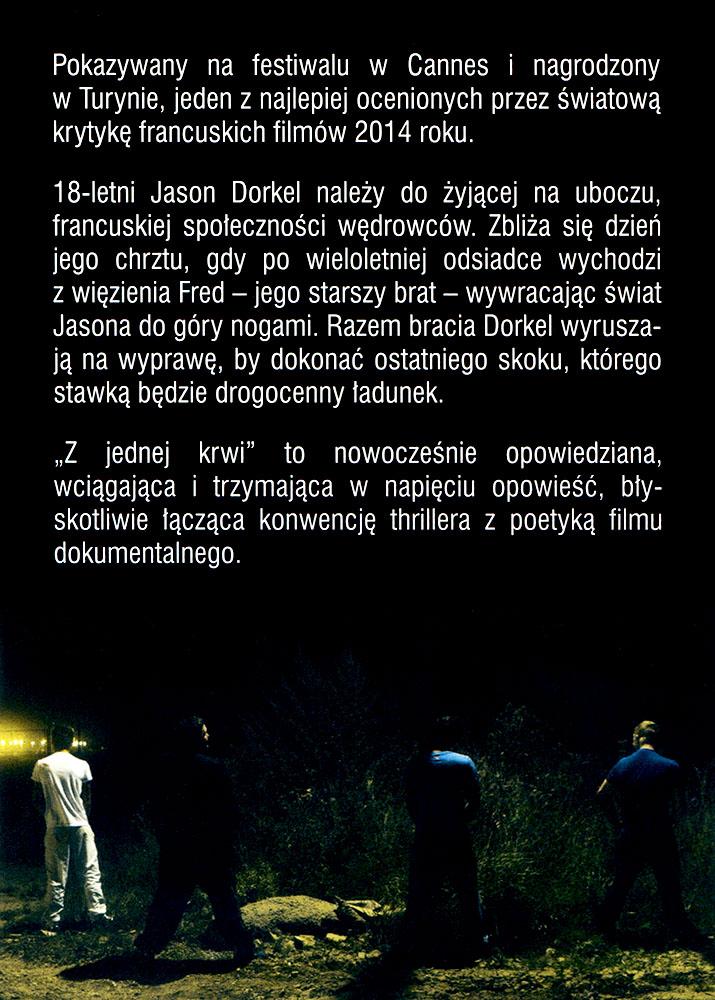 Ulotka filmu 'Z Jednej Krwi (tył)'