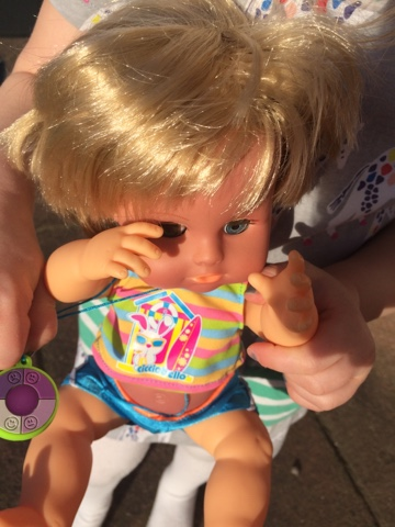 Cicciobello Sunny doll review - teaching children to be safe in the sun