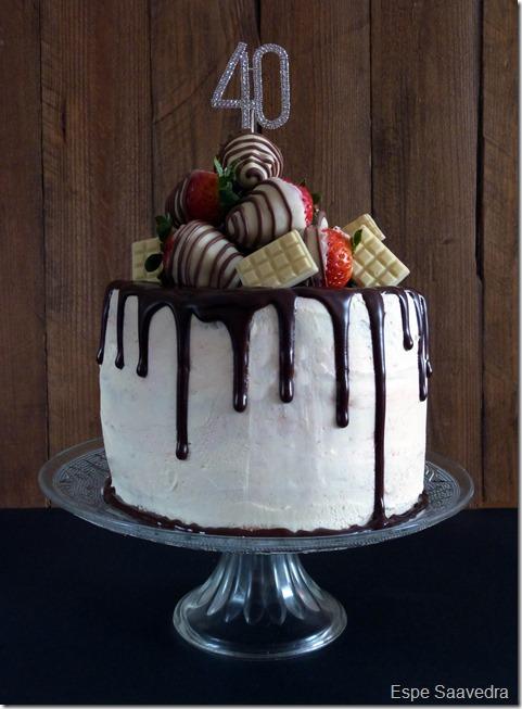 drip cake 40 cumpleaños espe saavedra
