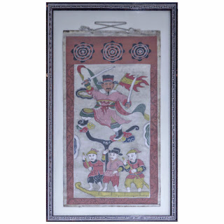 19th C. Asian Scroll Painting #3
